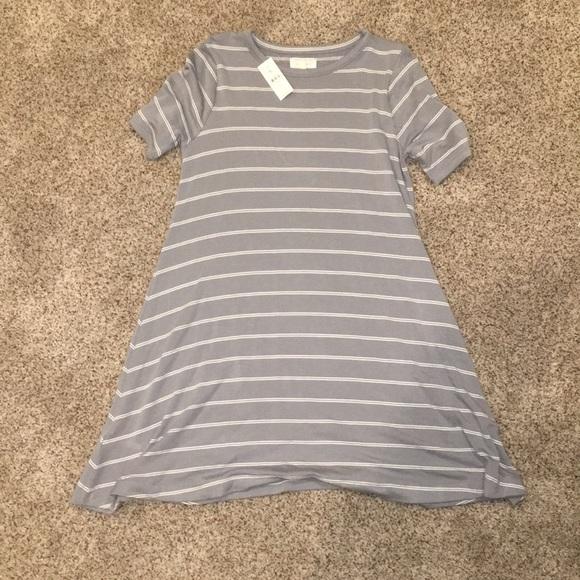 3cfb2db21524 Loft - Lou   Grey T shirt Dress